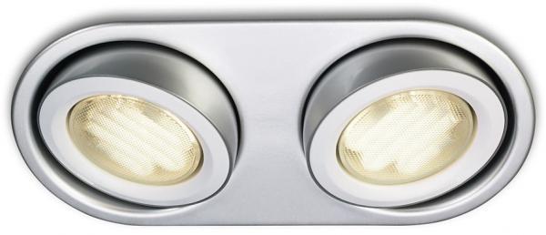 Đèn lắp chìm 59602, nhôm, trắng, LED