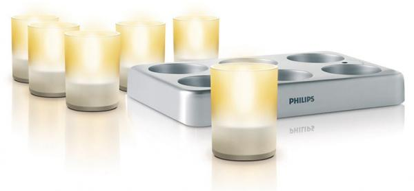 Accents TeaLights 6 bộ, dạng trong, LED 69126/60/86