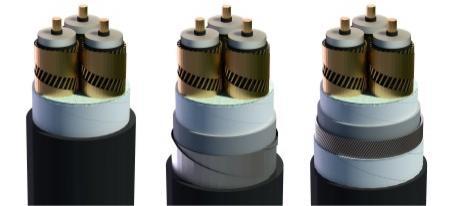 Cáp Trung Thế Có Màn Chắn Kim Loại Là Sợi Đồng Kết Hợp Với Băng Đồng Cấp Điện Áp 12/20(24) kV Hoặc 12,7/22(24) kV